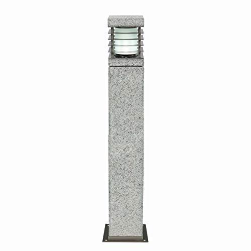 HEITRONIC Granit-Es stimmt Flur Licht der lampe lecken Poller Granit Garten Projektor Licht durch LED E27Leuchtmittel 70cm