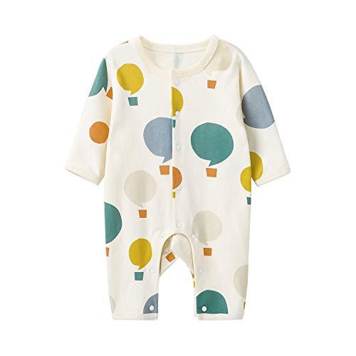 pureborn Unisex Baby Cotton Romper Jumpsuit Dotted Cartoon Balloon 9-12 Months