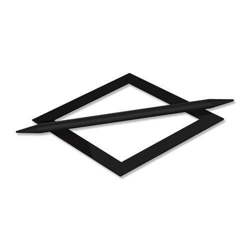 Avos Oval INTERDECO Raffspange//Dekospange in Edelstahl Optik aus Metall