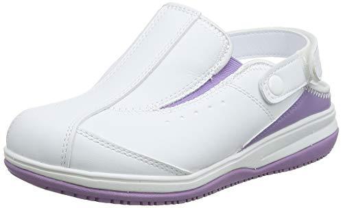 Oxypas Iris, Zapatos de Seguridad Mujer, Blanco (Lic), 40 EU (6.5 UK)