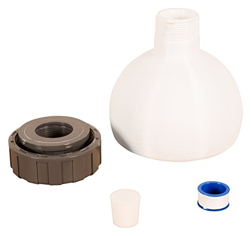 FastFerment Yeast Harvesting Collection Ball - No More Sediment Contamination! Flat Bottomed Design for Your Home-Brew kit. Rubber Bung and Teflon Tape Included (Collection Ball 14 Gallon)