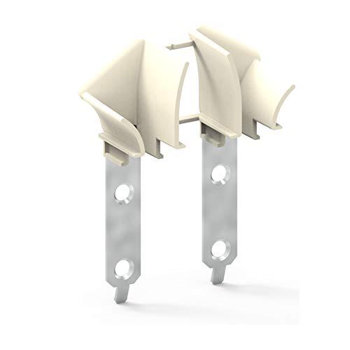 Rolladen Einlauftrichter Universal | Rolladenführung für Führungsschiene | Mini | 1 Paar (2 Stück)