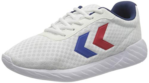 hummel Unisex-Erwachsene Legend Breather Sneaker, White/Blue/RED,39 EU