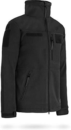 normani Tactical Fleecejacke Delta-Jacke mit 3-lagiger, atmungsaktiver Membran und Patchfläche am Arm Farbe Schwarz Größe 4XL