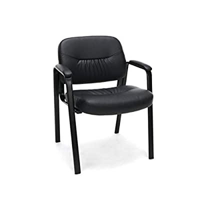 Essentials Leather Executive Side Chair with Padded Arms Ergonomic Office Furniture, (ESS-9010)