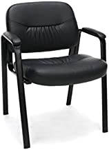 OFM ESS Collection Bonded Leather Executive Side Chair, in Black (ESS-9010)
