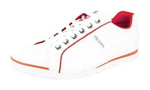 Prada Herren Weiss Stoff Sneaker 4E2719 40.5 EU / 6.5 UK