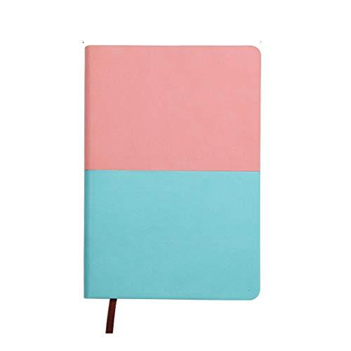 XXT Creativa en Dos Colores con el Bloc de Notas Retro Espesado Simple Diario Cuaderno Literario Hardcover Libro de la Escritura a Mano Cuaderno A5 Cuenta (Color : A)