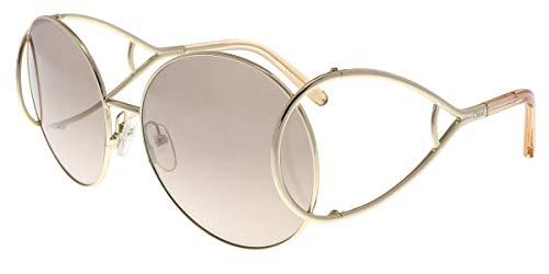 CHLOÉ CE124S Rund Sonnenbrille 60, Silber