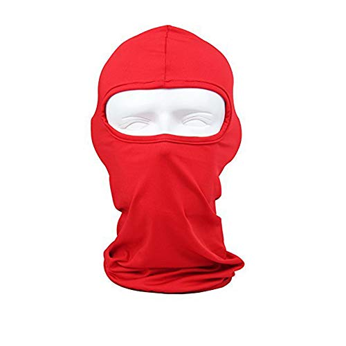 Sunland Lycra Fabrics Balaclava Motorcycle Cycling Bike Bandana Hiking Skateboard Head Sock Red