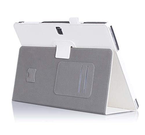 Rindsleder Magnet Smart Sleep PU Leder Folio Abdeckung Haut Fall Karte Slot Handschlaufe Für Samsung Galaxy TabPro S SM-W707 W703 W700-Grün