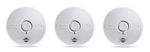 Kidde 21009667 P3010K-CO - Alarma fotoeléctrica de Cocina sin Preocupaciones con batería sellada de 10 años (Paquete de 3)