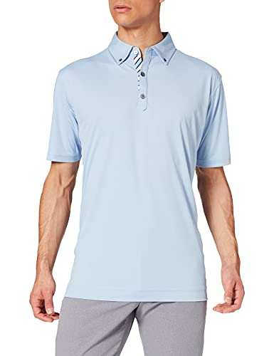 Footjoy Birdseye Jaquard Camisa de Golf, Laguna, L para Hombre