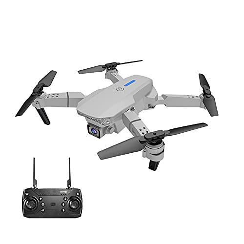 WECDS Drone télécommandé Pliable avec caméra 4K, Prise de vue Haute définition WiFi pour Avion à Quatre Axes, Gris