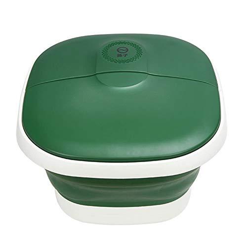 Baño De Pies Plegable, Baño Pies Masaje Termostático Con Calefacción Eléctrica Portátil Para El Hogar, Baño Pies (Green)