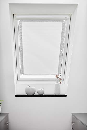 ROOMY Dachfenster Sonnenschutz Haftfix, ohne Bohren, Hitzeschutzrollo Saugnapf Verdunkelungsrollo Sichtschutz 94 cm x 113,5 cm (B x L) für S08/608