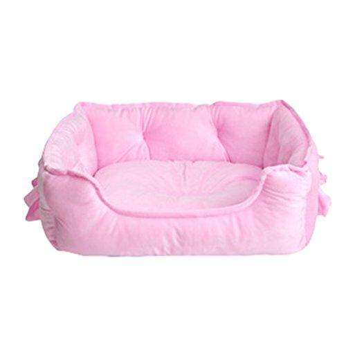 LvRao Animale Domestico Letto per Gatto Cane Cucciolo Divano Morbido Calda Casette, Ceste Casa Cani (Pink, 58 * 40 * 22CM)