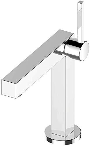 KEUCO Waschtisch-Armatur chrom für Waschbecken im Bad, Höhe 26,1cm, Einlochmontage, Design-Wasserhahn, Einhandmischer, Waschtischmischer, Edition 90