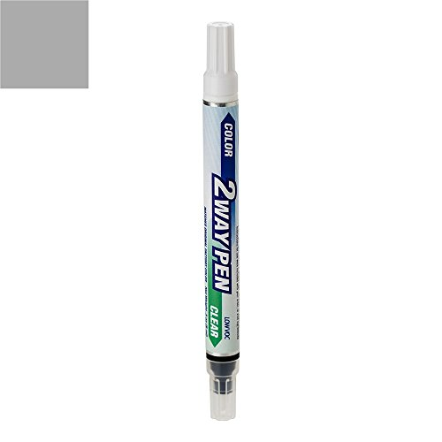ExpressPaint 2WayPen - Automotive Touch-up Paint for Mercedes-Benz GLK-Class - Palladium Silver Metallic 792 - Color + Clearcoat Only