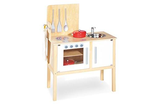 Pinolino - 229313 - Kinder Kombi Küche Jette - mit magnetisch befestigten Kochbesteck, Maße: 55 x 30 x 87 cm