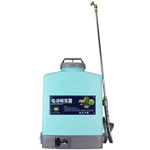 Cacoffay 16L Bomba Mochila Presión Pulverizador Eléctrico Rociador de Niebla Pulverizador de acción, Batería de Litio, para Herbicida Otro Agua Soluble Productos