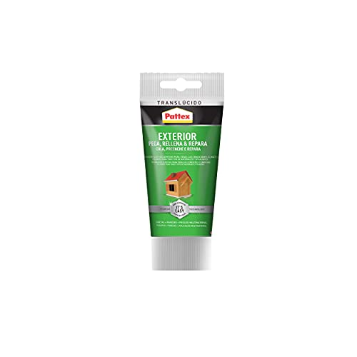 Pattex Exterior Sella, Pega & Repara, sellador exterior duradero, polímero transparente resistente a las condiciones climáticas, cubrejuntas pintable, 1 tubo x 80 ml
