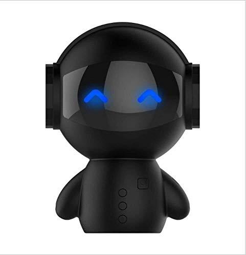 Kaper Go Roboter Bluetooth Lautsprecher Wireless-Karte Handy Mini Audio USB-Ladestation Mobile Power Charging Schwarz (Color : Black)