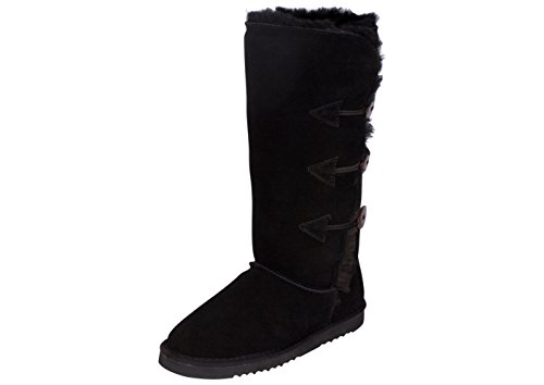 Kemi Classic Emily Triplet Toggle Ladies Winter Snow Boots - Fashionable Winter Boots for Women (8 B(M) US, Black)