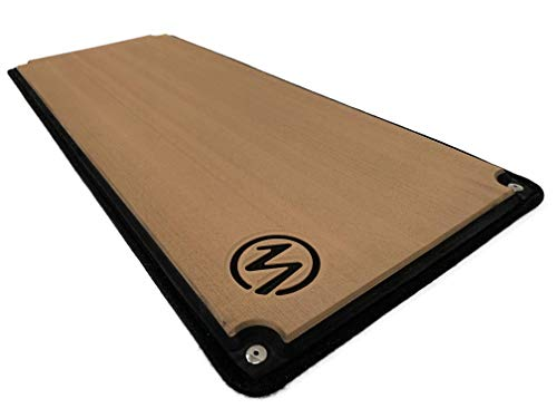 Marine Mat Helm Pad for Boat - 15 MM, SNAP in, Size: 36x14 - Teak/Black