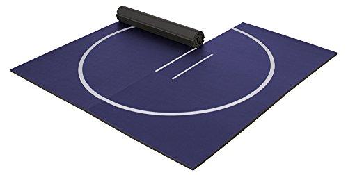 EZ Flex 10' x 10' Home Wrestling Mat (Navy Blue)