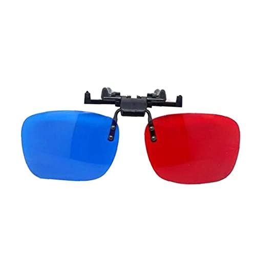 Ruluti Visión De Los Vidrios del Clip Simple Tipo Rojo-Azul Gafas Anaglifo Gafas De Juego De Película DVD De Vídeo Extra De Actualización Estilo Hombres Mujeres