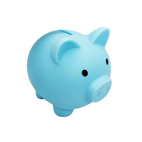GARNECK 1 Stück Cartoon Sparschwein Silikon Spardose Münze Vorratsbehälter Kleingeld Veranstalter für Kinder Kleinkinder Kinder-blau