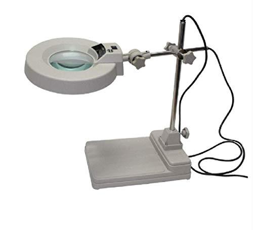LKK-KK El trabajo de iluminación lupa Tabla 8 veces de luz LED de cristal efectiva de 125 mm Diámetro de la lente del vidrio óptico enfermería, Personal Técnico Ingeniería Y 38.5x28x15CM Lupa for Lect