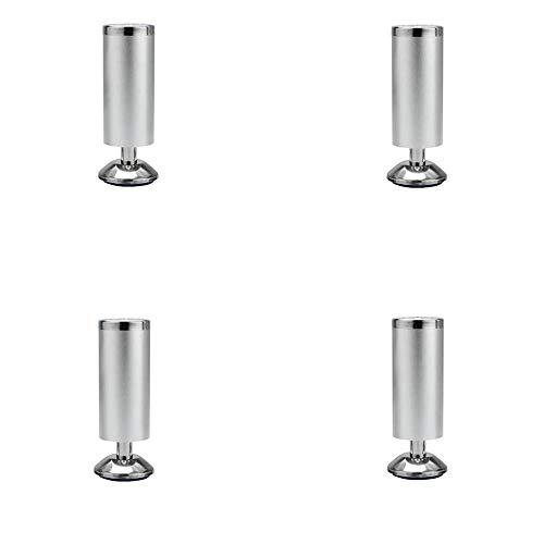 4x Möbelstützbeine, dicke Aluminiumlegierung Starke Tragfähigkeit Geeignet für Weinschränke Betttische Stühle und andere Möbel/Silber / 200mm