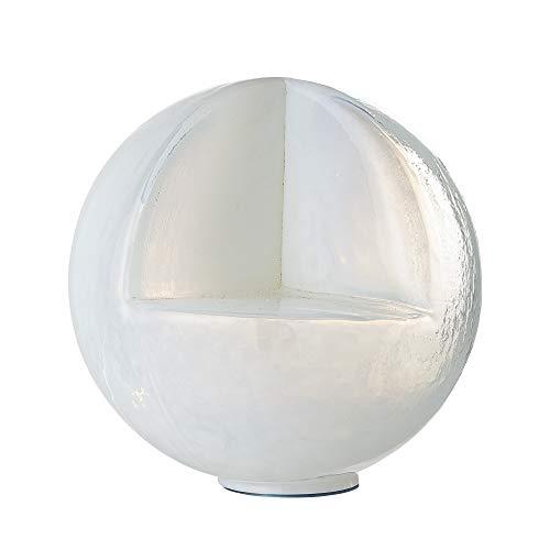 Bloomingville Globe décoratif, blanc, verre recycl