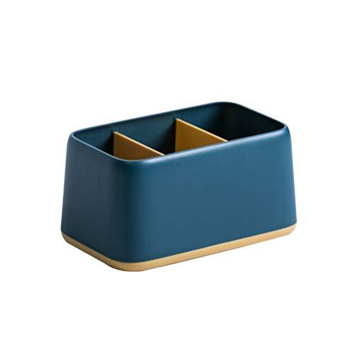 FHQCU Lapiceros para Escritorio Organizador de Rotuladores, Diseño versátil Ligero, Fuerte adaptabilidad para Todo el Material de Oficina,Azul