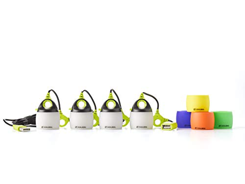 Goal Zero Light Mini 4 Pack with Color Shades, USB Powered LED String Lights