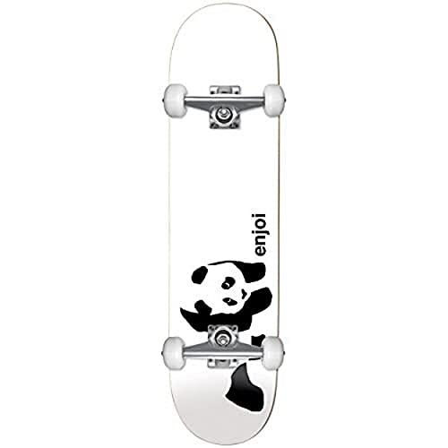 Enjoi Whitey Panda–Skateboard Unisex Adulto, Bianco