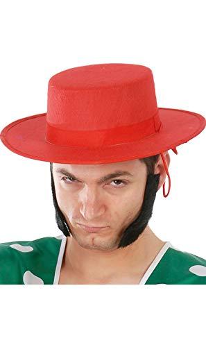 Guirca Fiestas GUI13627 - Sombrero de flamenco rojo de fieltro
