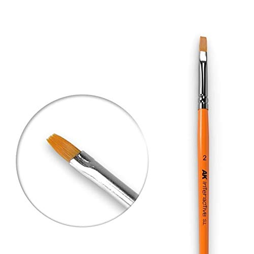 (AK00609) - AK Interactive Brushes - Synthetic Flat 2