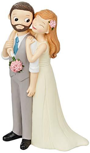Mopec figuur pastel Pop & Fun bruid vest en baard, 21 cm, wit, eenheidsmaat