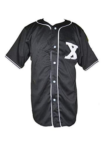 borizcustoms Malcolm X Baseball Jersey Stitch Sewn Baseball Jersey Thug Life XXS - 5XL (42) Black