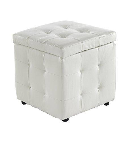 Wink design, Portsmouth, puf Container, Piel Ecológica, blanca