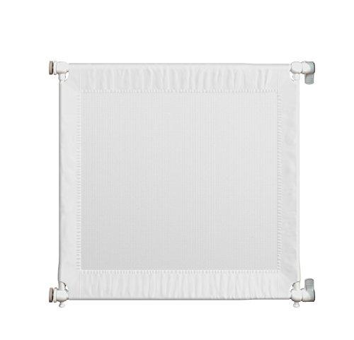 Gaterol Travel – Reise Türschutzgitter Treppenschutzgitter / 67cm bis 98cm / kompakt auseinandernehmbar mit Reisetasche/weiß/druckmontiert ohne bohren / 74cm hoch