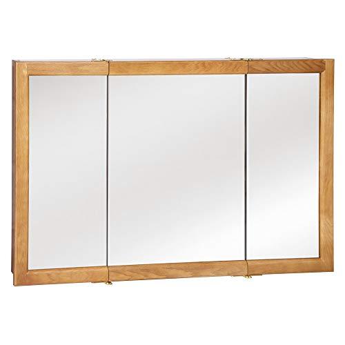 Design House 530584 Richland Mirrored Medicine Cabinet, Nutmeg Oak, 48' W x 30' H