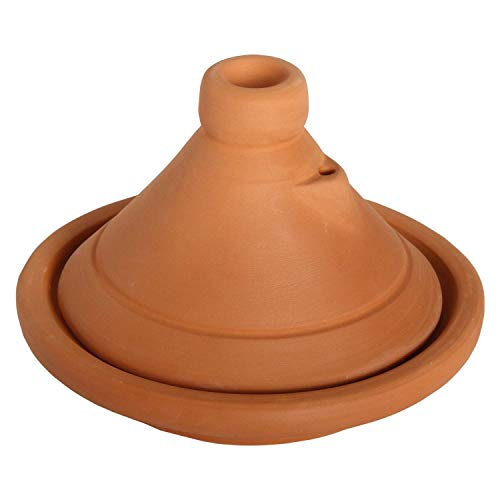 Casa Moro Marokkanische Tajine Beldi Ø 26cm unglasiert für 1-3 Personen | Berber Tontopf Handmade Tagine Gartopf | handgetöpfert aus Marrakesch | TA7031