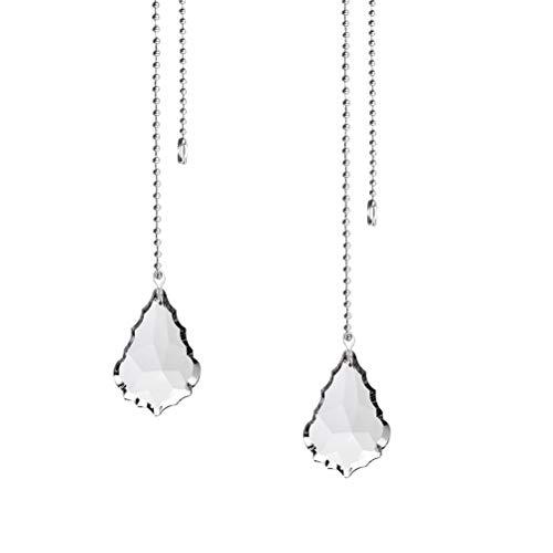 30 mm jky Boules d/'Extension de cha/îne de Serrage Forme de Goutte pour cha/îne de Ventilateur de Plafond Cha/înes de Serrage pour Ventilateur de Plafond Crystal Diamond a