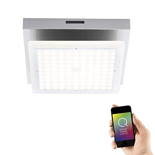 Paul Neuhaus 6032-55 Q-Vidal LED Deckenleuchte, schwenkbarer Spot, Smart Home RGBW Farbwechsel, dimmbar Fernbedienung