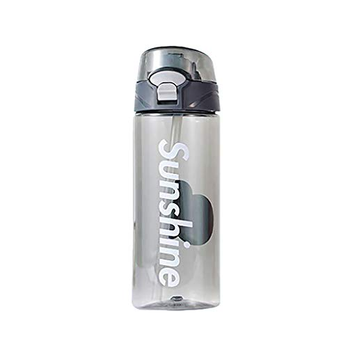 Best Sports Water Bottle Flip Led Straw Water Drink Bottle Sport Hydration Cycling Hiking Camping Tritan | Sports, Camping, Gym, Fitness, Outdoor (A, 550ml)