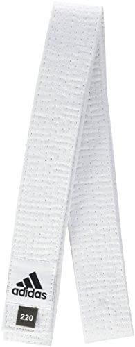 adidas Club, ADIB220D, Gürtel aus Baumwollpiqué, Herren Damen Jungen Unisex, Blanco - White, 220 cm